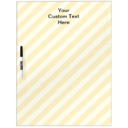 Light Tan Stripes with Black Text. Dry Erase Board