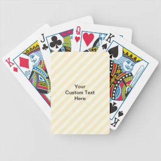 Light Tan Stripes with Black Text. Bicycle Playing Cards