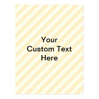 Light Tan Stripes with Black Text. Postcard