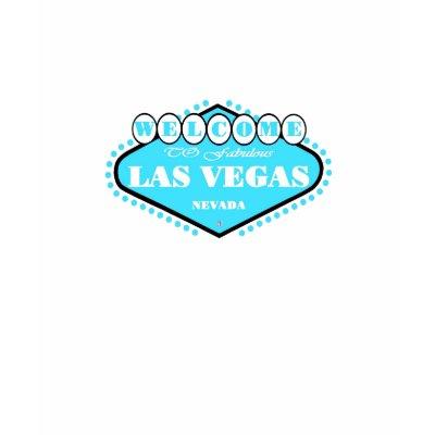 Light Teal Blue Las Vegas Logo