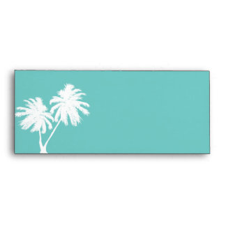 Light Teal Envelope with Palm Trees