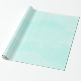 Light Teal Pastel Watercolor  Wrapping Paper