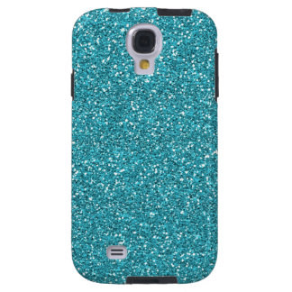 Light Teal Peacock Blue Glitter Effect Galaxy S4 Case