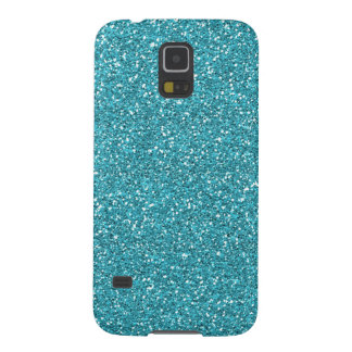 Light Teal Peacock Blue Glitter Effect Galaxy S5 Case