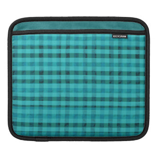 Light Teal Plaid - Custom iPad Sleeve