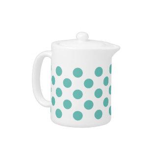 Light Teal Polka Dot Teapot