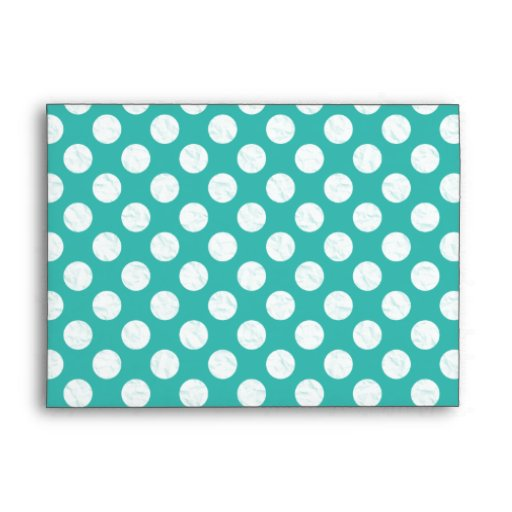 Light Teal with Polka Dots Envelope