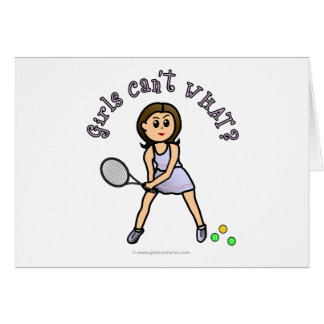 Light Tennis Player Girl Card