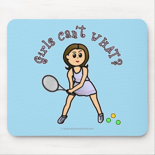 Light Tennis Player Girl Mousepad