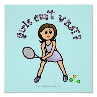 Light Tennis Player Girl Poster