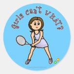 Light Tennis Player Girl Sticker