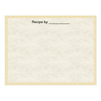Light Textured Recipe Blank #1 Card