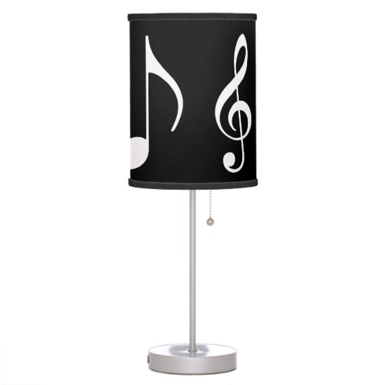 light the bedroom with musical notes desk lamp