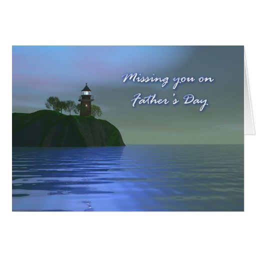 Light the Way Blue Father's Day Card