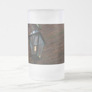 Light The Way Frosted Glass Beer Mug