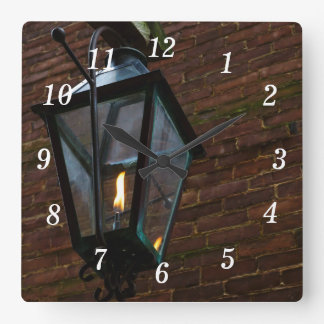 Light The Way Square Wall Clock