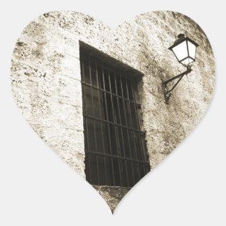 Light Through the Bars Heart Sticker