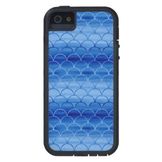 Light to Dark Blue Watercolor Scales iPhone SE/5/5s Case