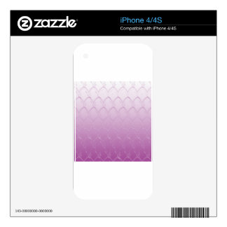Light to Dark Purple Scales Skins For iPhone 4S