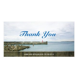 Light Tower Port View Thank You Photo Card