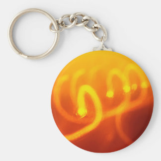 Light trails abstract Keychain