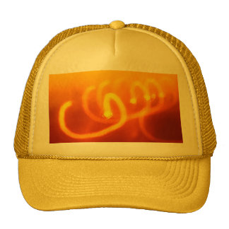 Light trails abstract trucker hat