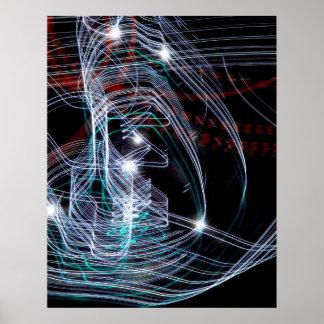 """Light Trails"" Poster"