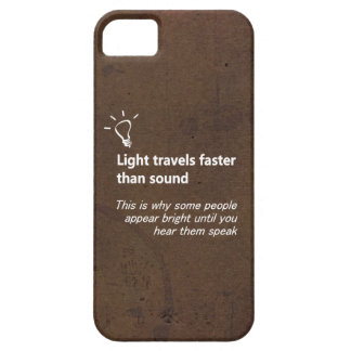 Light Travels Faster Brown Grunge iPhone Case