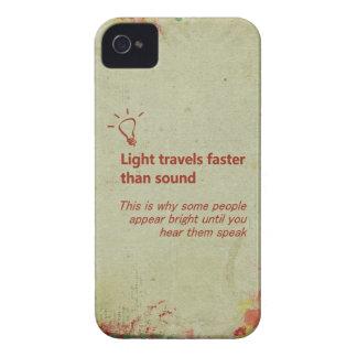 Light Travels Faster Cream Grunge iPhone Case