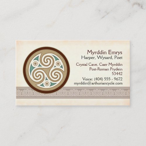 Light Triskele Business Cards