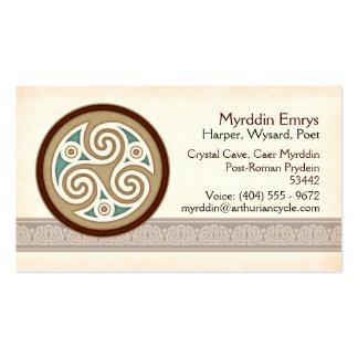Light Triskele Business Cards