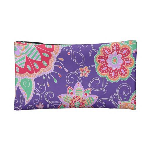 Light Tropical Floral Makeup Bag