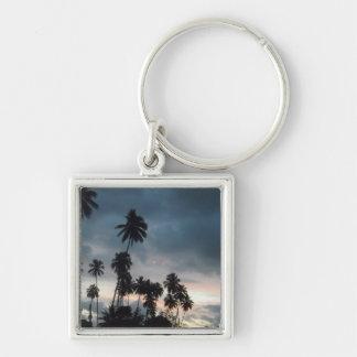 Light Tropical Sunrise Keychain