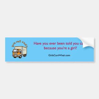Light Trucker Girl Bumper Sticker