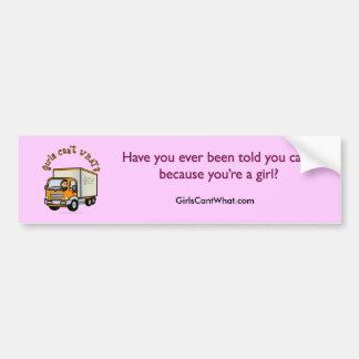 Light Trucker Girl Car Bumper Sticker