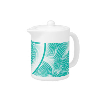 Light turquoise abstract teapot