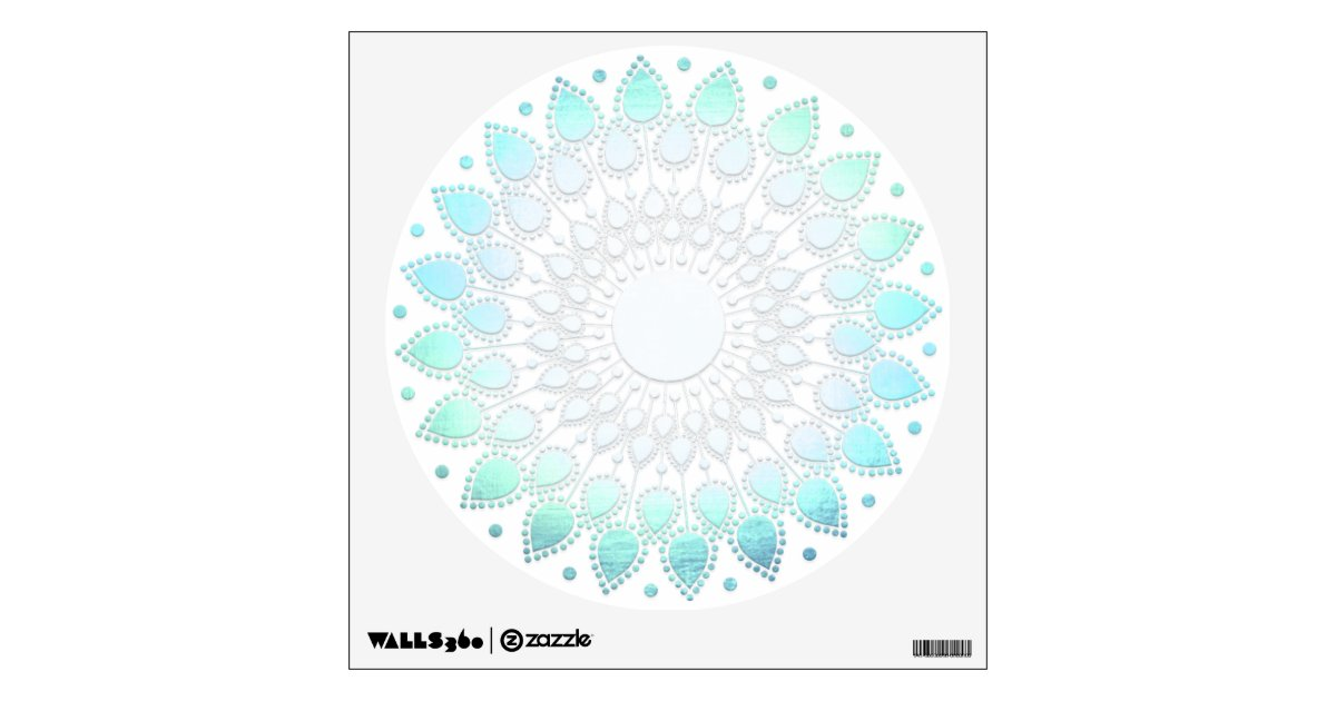 light turquoise blue lotus flower wall decal - Wall Stickers Design Your Own