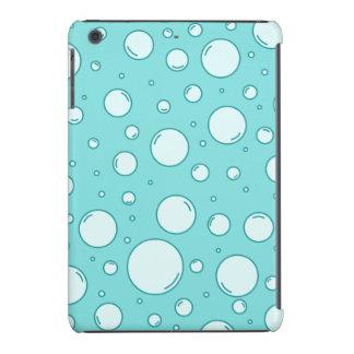 Light Turquoise Bubbles (Turquoise Background) iPad Mini Retina Cover