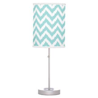 Light Turquoise Chevron Pattern Desk Lamp