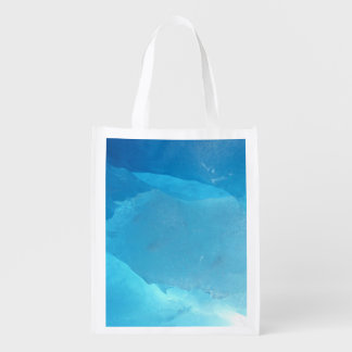 LIGHT TURQUOISE ICE REUSABLE GROCERY BAG