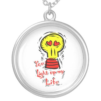 Light up life valentine love design pendants