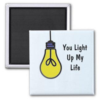 Light up my Life Bulb Design Magnet
