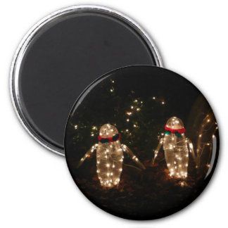 Light-Up Penguins Holiday Light Display 2 Inch Round Magnet