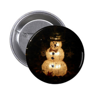 Light-Up Snowman Christmas Holiday Photo Button