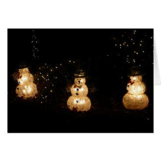 Light-Up Snowmen Card