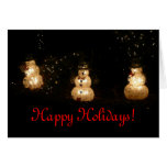 Light-Up Snowmen Holiday Card