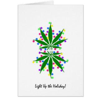Light Up the Holiday Marijuana card