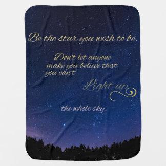"""Light Up The Sky"" Baby Blanket"