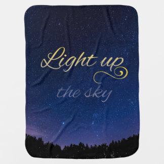 """""""Light Up The Sky"""" Baby Blanket (Shortened)"""