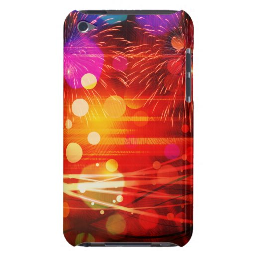 Light Up the Sky Light Rays and Fireworks Barely There iPod Cover